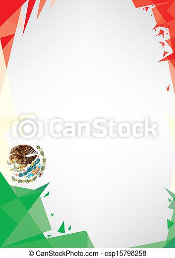 background origami of Mexico - csp15798258