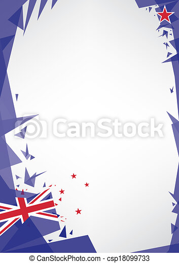 background origami of new zealand - csp18099733