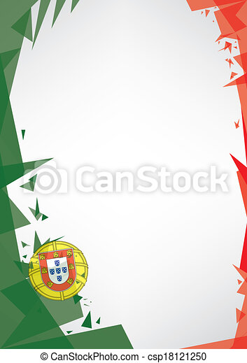 background origami of Portugal - csp18121250