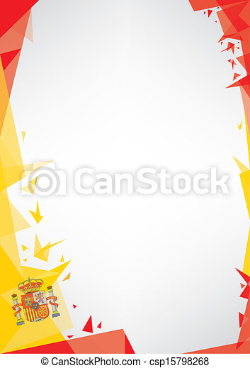background origami of spain - csp15798268