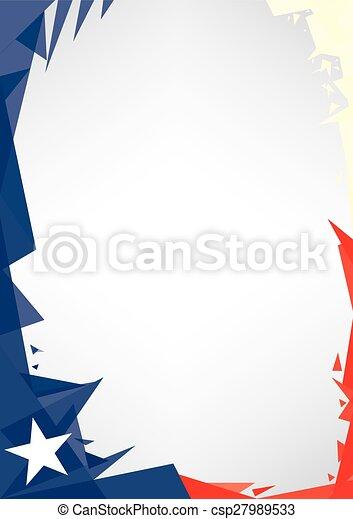 background origami of Texas - csp27989533