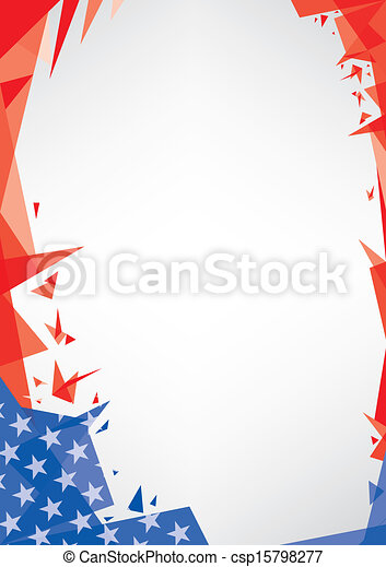 background origami of USA - csp15798277