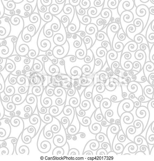 background pattern with arabesque in spiral - csp42017329