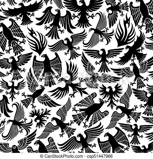 background pattern with eagles icons - csp51447966