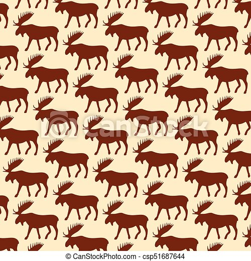 background pattern with moose - csp51687644