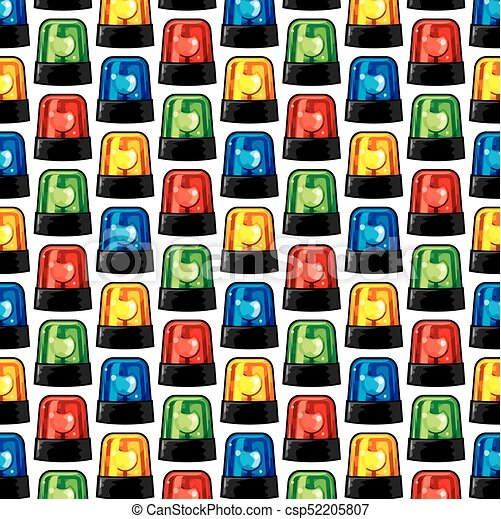 background pattern with police sirens - csp52205807
