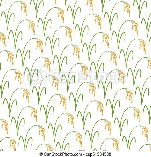 background pattern with rice - csp51384588