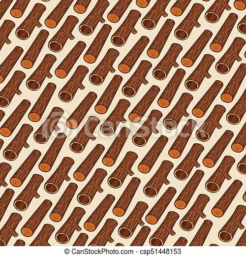 background pattern with wooden logs - csp51448153
