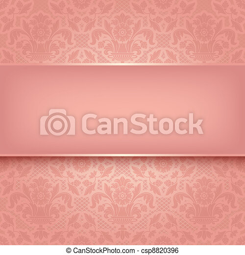 Background pink ornamental fabric texture. Vector eps 10 - csp8820396