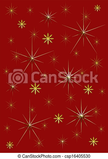 Background red and gold stars - csp16405530