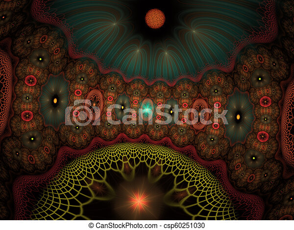 Background science or medical concept. Biochemistry concept. Fractal art - csp60251030