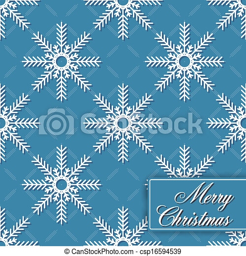 Background seamless from snowflakes - csp16594539