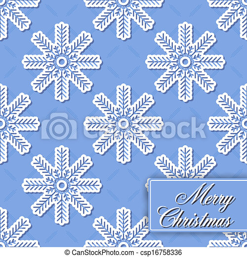 Background seamless from snowflakes - csp16758336