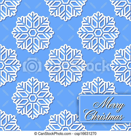 Background seamless from snowflakes - csp16631270