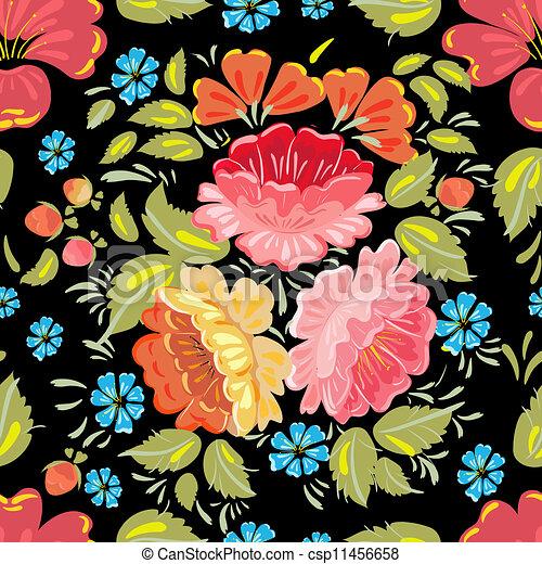 background seamless style Khokhloma - csp11456658