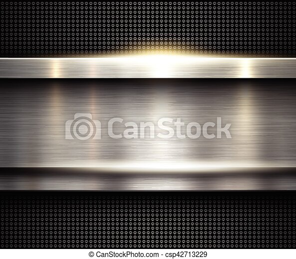 Background silver metallic - csp42713229