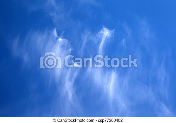 Background Sky On A Bright Sunny Day Beautiful Cumulus And Cirrus Thin Clouds On A Blue Sky Background Blank For Nature Canstock