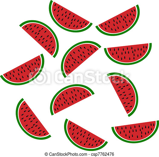 Background: slices of watermelon - csp7762476