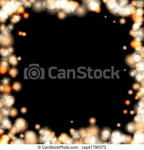 background sparkle gold black csp41790373