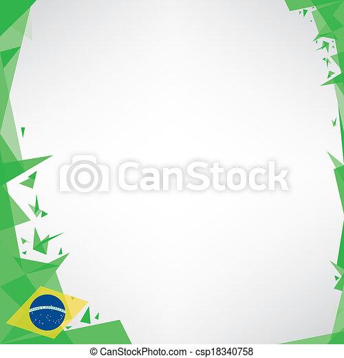 background square origami of brazil - csp18340758