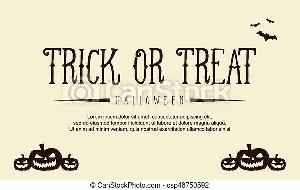 Background style Halloween with pumpkin - csp48750592