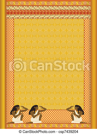 background stylized in under ancient Egyptian  - csp7439204