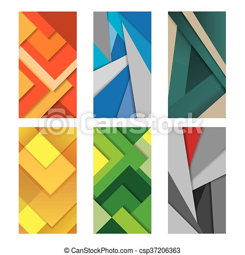 Background Unusual modern material design Vector Illustration. - csp37206363