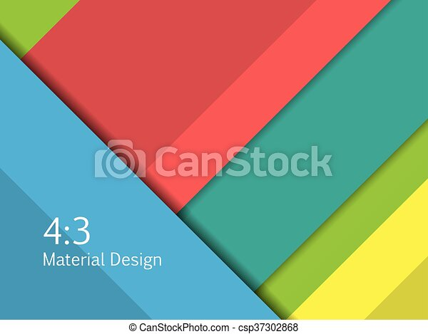 Background Unusual modern material design. Format 16:9 . Vector Illustration. - csp37302868