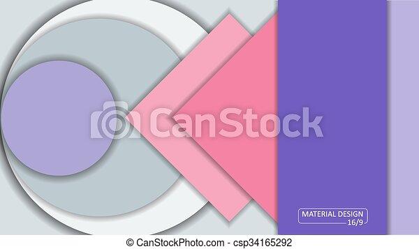 Background Unusual modern material design. Format 16:9 - csp34165292