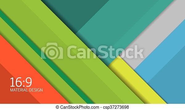 Background Unusual modern material design. Format 16:9 . Vector Illustration. - csp37273698