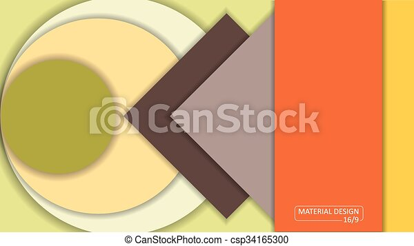 Background Unusual modern material design. Format 16:9 - csp34165300
