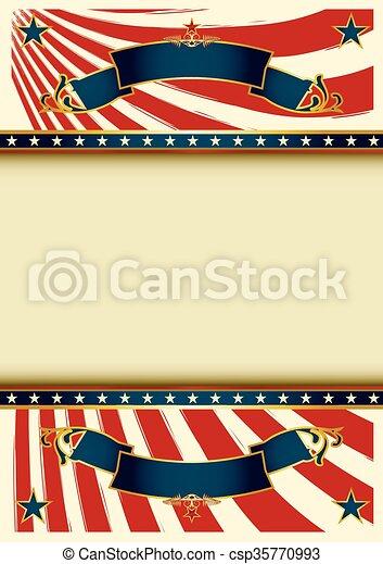 Background vintage USA - csp35770993