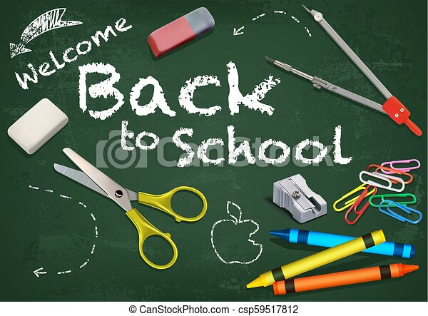 Background Welcome Back to School - csp59517812