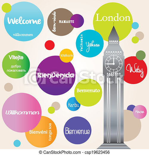 Background welcome London - csp19623456