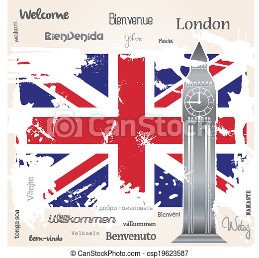 Background welcome London - csp19623587