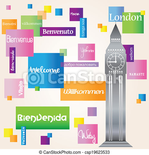 Background welcome London - csp19623533