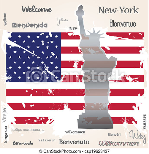 Background welcome New-York - csp19623437
