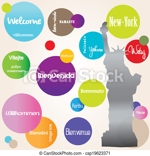 Background welcome New-York - csp19623371