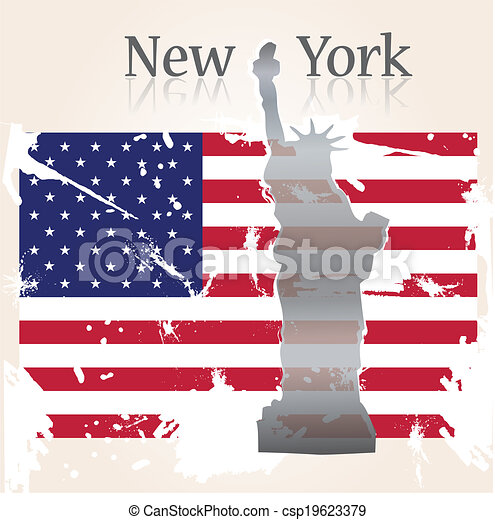 Background welcome New-York - csp19623379