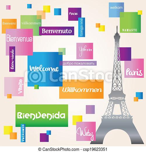 Background welcome Paris - csp19623351