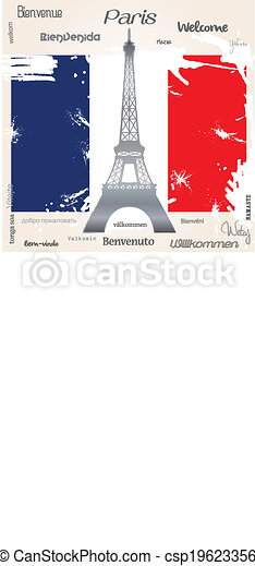 Background  welcome Paris - csp19623356