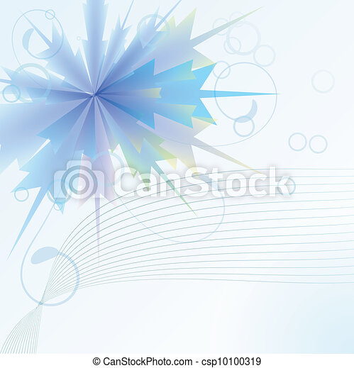 Background with a blue flower - csp10100319