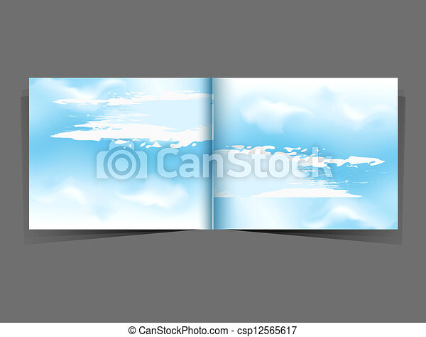 background with a blue sky - csp12565617