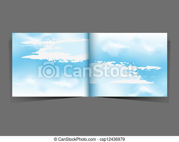 background with a blue sky - csp12436979