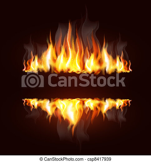 background with a burning flame - csp8417939