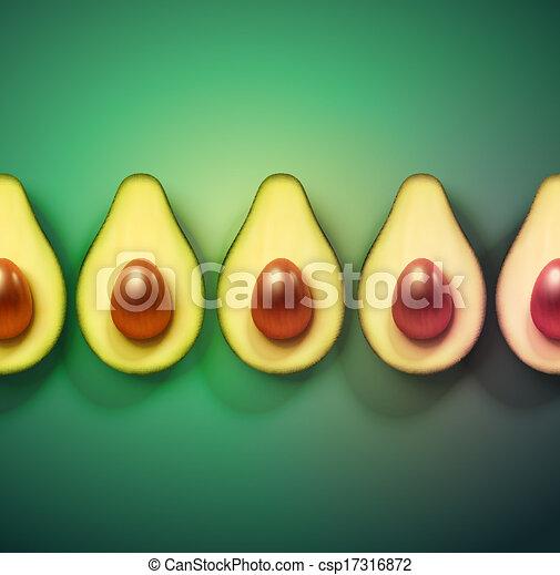 Background with avocado - csp17316872