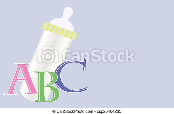 Background with baby bottle - csp25464285