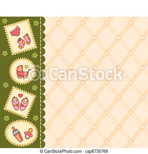 background with baby icons - csp6735769