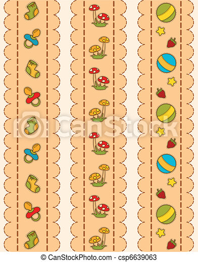 background with baby icons - csp6639063