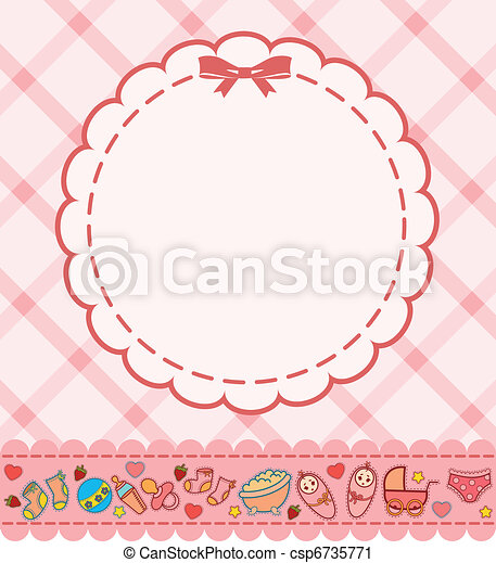 background with baby icons - csp6735771